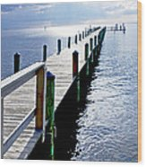 The Dock Of The Bay Wood Print