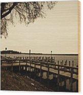 The Docks On Lake Minnetonka Wood Print