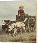 The Dog Cart Wood Print