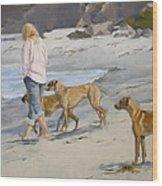 The Dog Walker Wood Print
