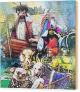 The Dogs Parade In New Orleans Wood Print
