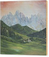The Dolomites Italy Wood Print by Jean Walker