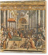 The Donation Of Rome. Wood Print