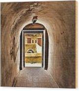 The Door 2 Wood Print by Dhouib Skander