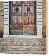 The Door At Number 5 Wood Print