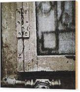 The Door Of Belcourt Wood Print
