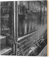 The Door Of Steam Train Wood Print