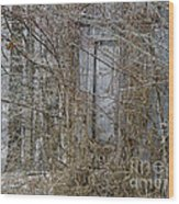 The Door To The Past Wood Print by Wilma  Birdwell