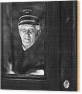 The Doorman Wood Print