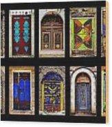 The Doors Of Yemen Wood Print