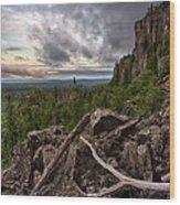 the Dorion Pinnacles Wood Print