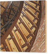 The Downside Of Spiral Stairs Wood Print