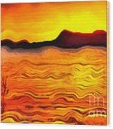 The Dream Landscape On Balaton Lake Wood Print