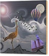 The Dream Voyage - Mad World Series Wood Print