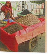 The Dried Fruit Seller Wood Print