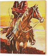 The Drover Wood Print