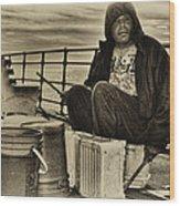 The Drummer Wood Print