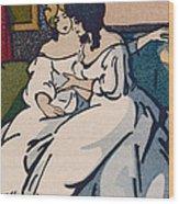 The Duchesse De Langeais Visiting The Vicomtesse De Beauseant Wood Print by Quint