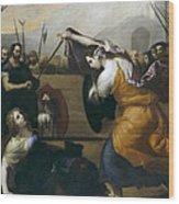 The Duel Of Isabella De Carazzi And Diambra De Pottinella Wood Print