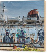 The Duke Of Graffiti Wood Print by Adrian Evans