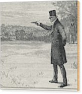 The Duke Of Wellington Fights A  Duel Wood Print
