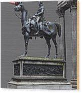 The Duke Of Wellington Goma  Grey Wood Print by John Farnan