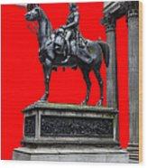 The Duke Of Wellington Red Wood Print