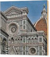 The Duomo And Baptistery Of St. John Wood Print