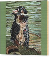The Early Berner Catcheth Phone Wood Print