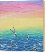 Sea To Sky Wood Print