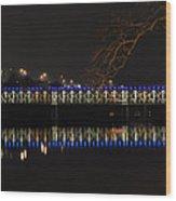 The East Falls Bridge At Night - Philadelphia Wood Print