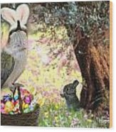 The Easter Hummer Wood Print