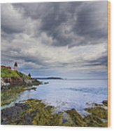 The Eastern Most Point In The U.s.a  Wood Print by Mircea Costina Photography