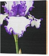 The Edge Of Purple Wood Print