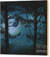 The Edge Of Twilight  Wood Print