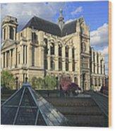 The Eglise De Saint-eustache Paris France  Wood Print