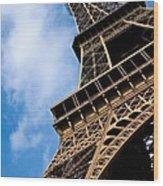 The Eiffel Tower From Below Wood Print by Nila Newsom