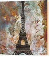 The Eiffel Tower - Paris France Art By Sharon Cummings Wood Print by Sharon Cummings