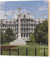 The Eisenhower Executive Office Building Wood Print