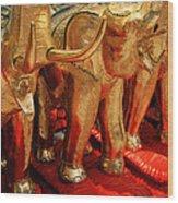 The Elephant Shrine Wood Print