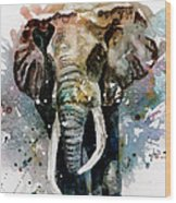 The Elephant Wood Print by Steven Ponsford