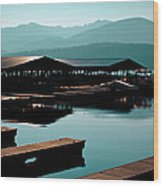 The Elkins Boathouse On Priest Lake Wood Print