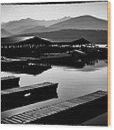 The Elkins Marina On Priest Lake Idaho Wood Print