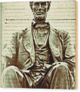The  Emancipation Proclamation And Abraham Lincoln Wood Print
