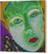 The Emerald Lady Wood Print