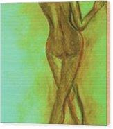 The Emerald Stroll Wood Print