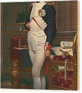 The Emperor Napoleon In His Study 1812 Wood Print