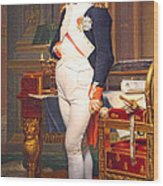 The Emperor Napoleon In His Study At The Tuileries By Jacques Louis David Wood Print