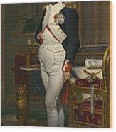 The Emperor Napoleon In His Study Wood Print
