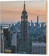 The Empire City Wood Print